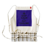 [Crown] keep calm and eat darling  HEART Aprons Zazzle HEART Apron