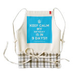 [Cupcake] keep calm my birthday is in 9 days!!  HEART Aprons Zazzle HEART Apron