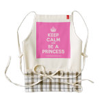 [Crown] keep calm and be a princess  HEART Aprons Zazzle HEART Apron