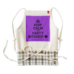 [Crown] keep calm and party bitches! [Love heart]  HEART Aprons Zazzle HEART Apron