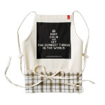 [Crown] keep calm and get the dumbest things in the world  HEART Aprons Zazzle HEART Apron