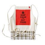 [Cutlery and plate] keep calm and eat food  HEART Aprons Zazzle HEART Apron