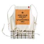 [Crown] keep calm and eat at wrapworks deli  HEART Aprons Zazzle HEART Apron