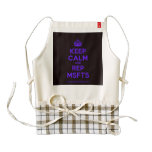 [Crown] keep calm and rep msfts  HEART Aprons Zazzle HEART Apron