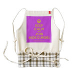 [Smile] keep calm and join moko.mobi  HEART Aprons Zazzle HEART Apron