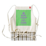 [Crown] keep calm and eat cake  HEART Aprons Zazzle HEART Apron
