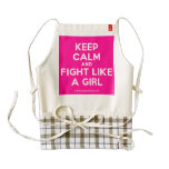 keep calm and fight like a girl  HEART Aprons Zazzle HEART Apron
