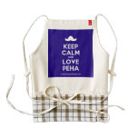 [Moustache] keep calm and love peha  HEART Aprons Zazzle HEART Apron