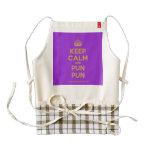 [Crown] keep calm and pun pun  HEART Aprons Zazzle HEART Apron