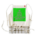 [Crown] keep calm its my little sister birthday  HEART Aprons Zazzle HEART Apron