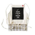 [Electric guitar] keep calm and rock on  HEART Aprons Zazzle HEART Apron