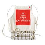[Crown] keep calm and eat popsick  HEART Aprons Zazzle HEART Apron
