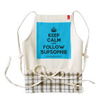 [Crown] keep calm and follow supsophie  HEART Aprons Zazzle HEART Apron