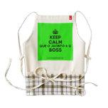 [Crown] keep calm que o jacinto é o boss  HEART Aprons Zazzle HEART Apron