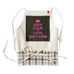 [Two hearts] keep calm and love sheyanne  HEART Aprons Zazzle HEART Apron