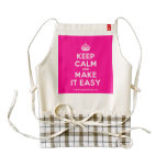 [Crown] keep calm and make it easy  HEART Aprons Zazzle HEART Apron