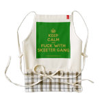 [Crown] keep calm and fuck with skeeter gang  HEART Aprons Zazzle HEART Apron