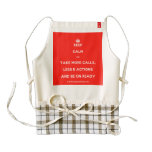 [Crown] keep calm and take more calls, less e actions and be on ready  HEART Aprons Zazzle HEART Apron