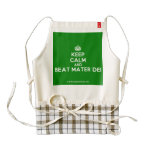 [Crown] keep calm and beat mater dei  HEART Aprons Zazzle HEART Apron