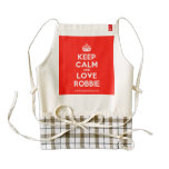 [Crown] keep calm and love robbie  HEART Aprons Zazzle HEART Apron