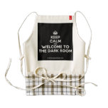[Crown] keep calm and welcome to the dark room  HEART Aprons Zazzle HEART Apron