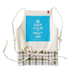 [Crown] keep calm and pray on  HEART Aprons Zazzle HEART Apron