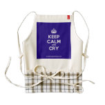 [Crown] keep calm and cry  HEART Aprons Zazzle HEART Apron