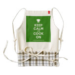 [Chef hat] keep calm and cook on  HEART Aprons Zazzle HEART Apron
