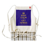 [Crown] keep calm and eat wings  HEART Aprons Zazzle HEART Apron