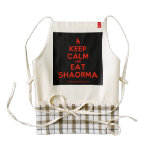[Campfire] keep calm and eat shaorma  HEART Aprons Zazzle HEART Apron