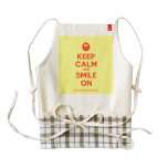 [Smile] keep calm and smile on  HEART Aprons Zazzle HEART Apron