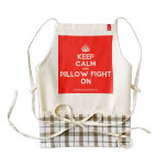 [Crown] keep calm and pillow fight on  HEART Aprons Zazzle HEART Apron