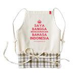 [Crown] saya bangga menggunakan bahasa indonesia  HEART Aprons Zazzle HEART Apron