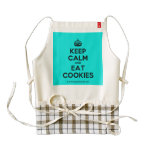 [Crown] keep calm and eat cookies  HEART Aprons Zazzle HEART Apron