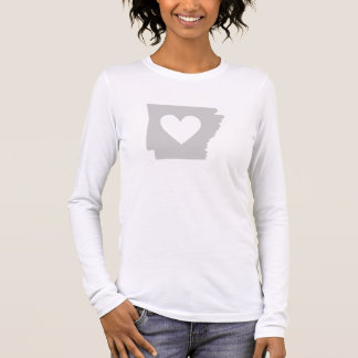 Heart Arkansas state silhouette Long Sleeve T-Shirt