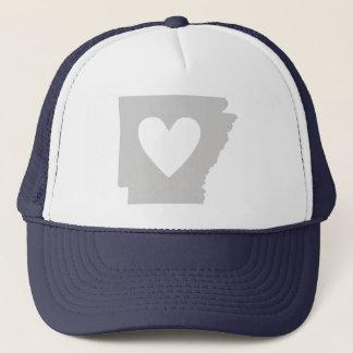 Heart Arkansas state silhouette Trucker Hat