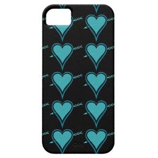 Heart & Arrow-Navy-Teal iPhone SE/5/5s Case