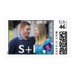 Heart Arrow Photo Save the Date Postage Stamp