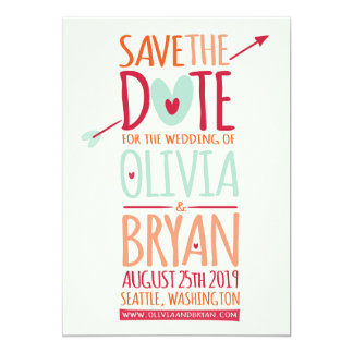 Heart Arrow Valentine Sweet Save The Date Card