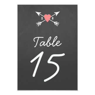Heart + Arrows Table Numbers Card