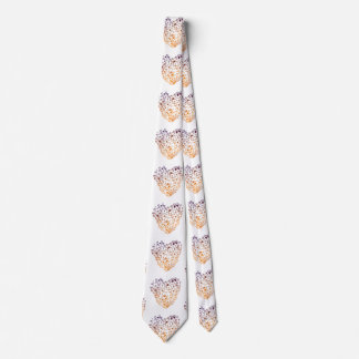 Heart Art Colorful Hearts Tie, Valentine Neck Tie
