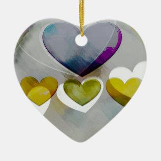 Heart Art | Embrace Life Ceramic Ornament