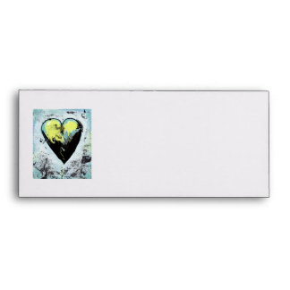 Heart art messy expressive scarred modern painting envelope