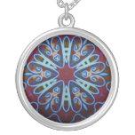 Heart Art Nouveau Geometric Necklace
