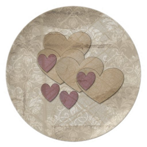 Heart Art | Ruby Cream Party Plate
