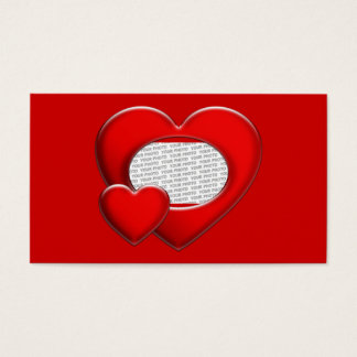 Heart ART Template + your photo & text Business Card