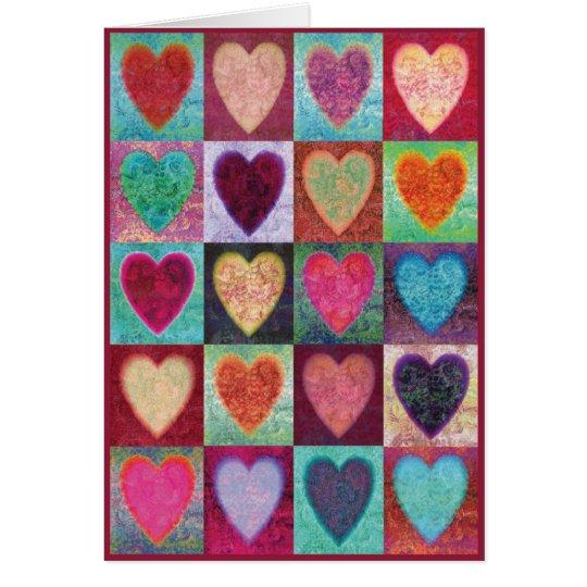 Heart Art Tiles Card