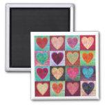 Heart Art Tiles Fridge Magnets