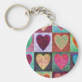 Heart Art Tiles Key Chain