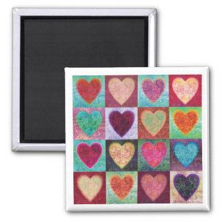 Heart Art Tiles Magnet